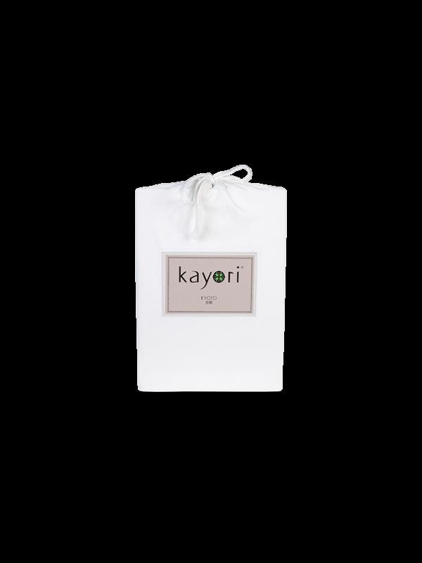 Kayori Kyoto - Spannlaken - Jersey - Weiss
