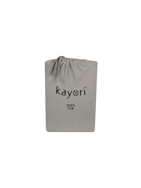Kayori Shizu Topper Spannbettlaken Jersey - Taupe