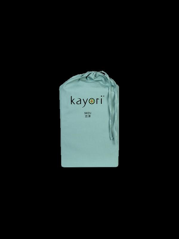 Kayori Shizu Topper Spannbettlaken Perkal - Grün