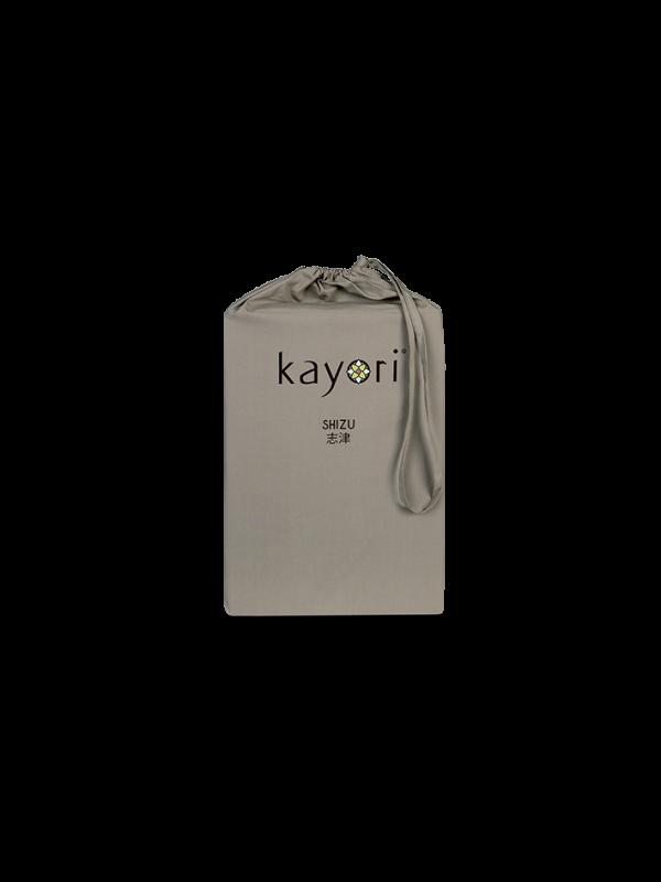 Kayori Shizu Topper Spannbettlaken Perkal - Taupe