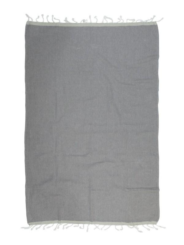 Kayori - Izu - Hamamtuch - 100x180 - Antrazt/Silbergrau