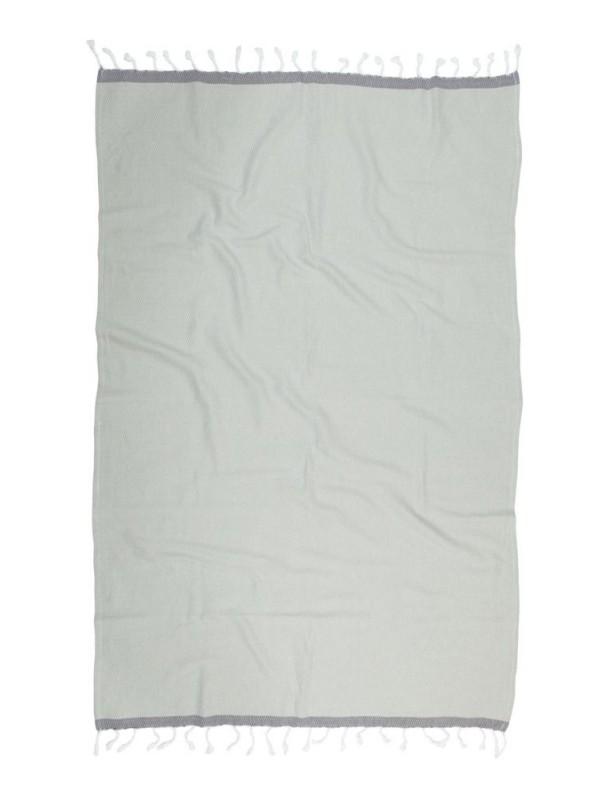 Kayori - Izu - Hamamtuch - 100x180 - Silbergrau/Antrazit