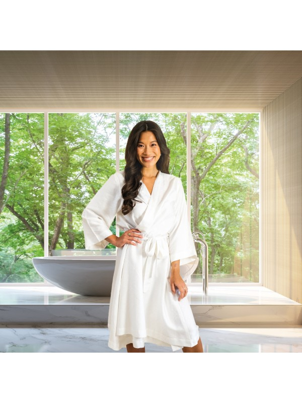 Kayori Kobe Kimono Zijde - Wit