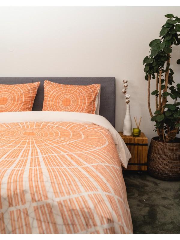 Kayori Shiro - Bettwasche-Baumwolle-satin - Orange