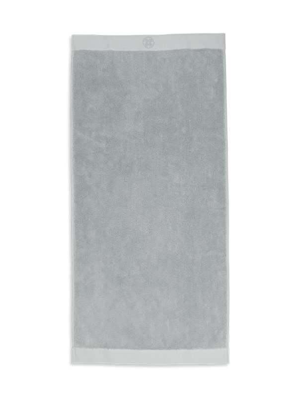 Kayori Yu - Handdoek - 50x100 - Zilvergrijs