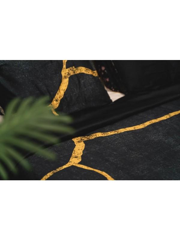 Kayori - Yoshi - Bettwäsche -Baumwolle-Satin - Schwarz